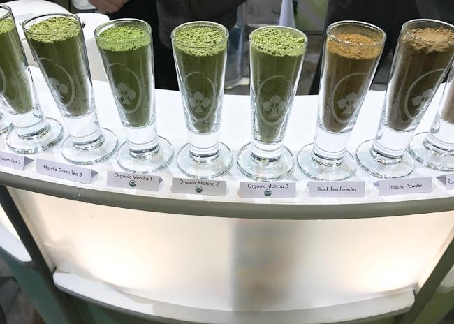 Matcha green tea varieties, Winter Fancy Food Show