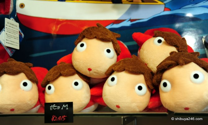 Ponyo on sale at the Ghibili shop in Kyoto