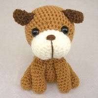 Cute little knitted dog