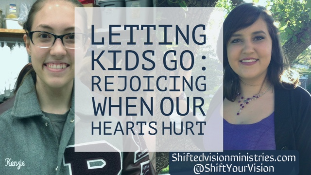 How do we rejoice when letting our children go hurts our hearts? From releasing them to Kindergarten or starting their own family, honoring this season.