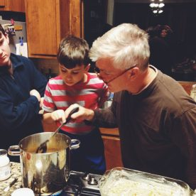 Fudge making with dad! :)