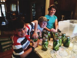 July    Pickle making with a few of my favorite people!