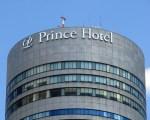 新横浜プリンスホテルの高層部2カ所に新設されたロゴサイン