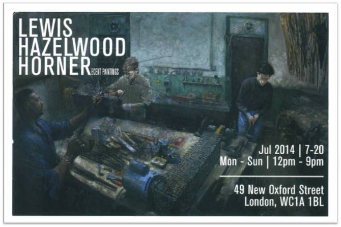 Lewis Hazelwood Horner Artist in Residence at James Smith and Sons Umbrellas and Canes 53 New Oxford Street