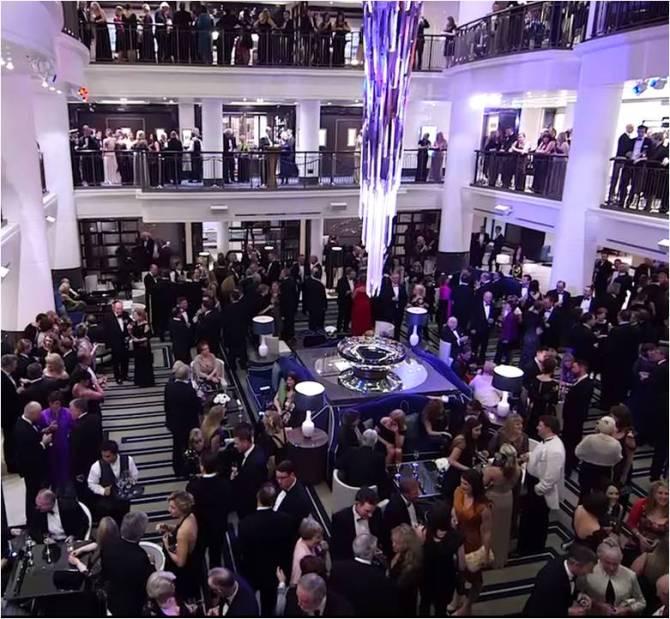 Drinks reception on Britannia