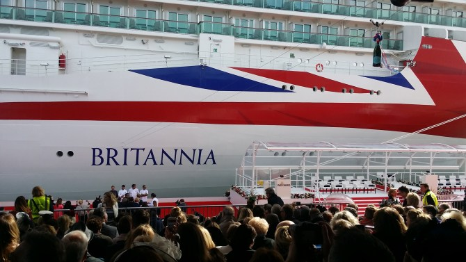 Photocall for the Britannia Celebrity Chefs
