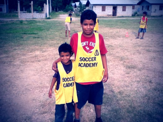 Jose and Antonio at soccer practice