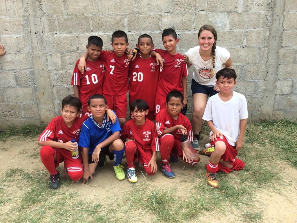 Caroline Gray Villa Soleada Bilingual School Soccer Team Shin Fujiyama Podcast Honduras
