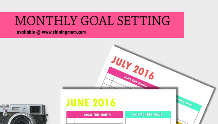 2016 Edition: Your Free Monthly Goal-Setting Page!