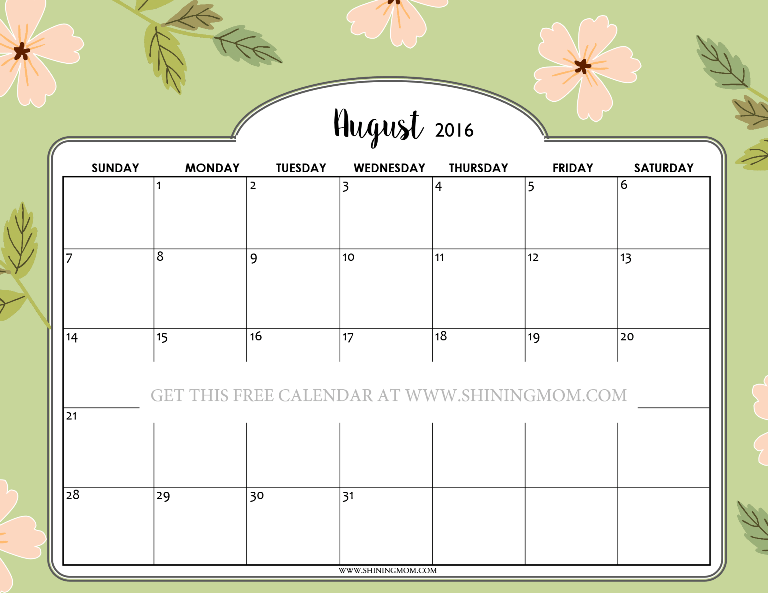 2016 Printable Calendar By Month Cute | Search Results | Calendar 2015