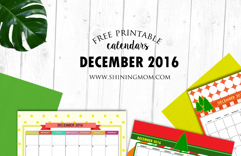 Christmas Calendar 2016 : Free december calendars christmas themed designs