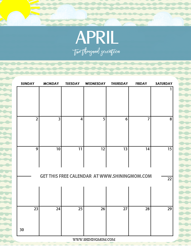 as my inspiration while creating this cute May 2017 calendar printable ...