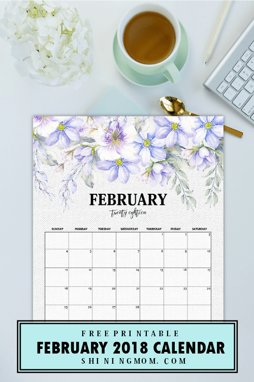 calendar background february 2018 - Okl.mindsprout.co