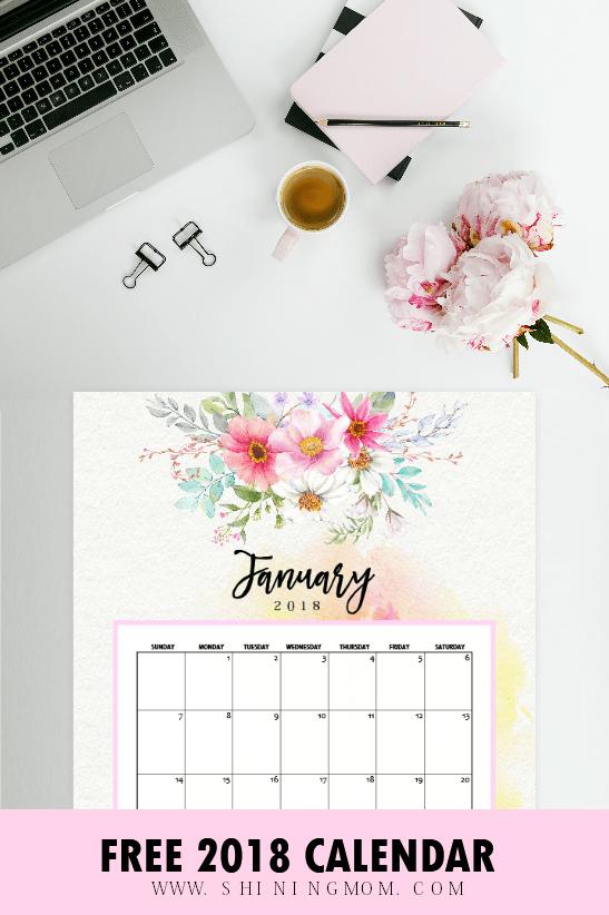 January Calendar: 5 Beautiful Free Printables!