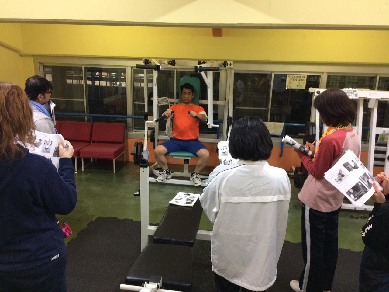 トレーニング機器講習毎月1回開催