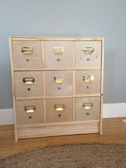 Incredible Diy Card Catalog From Ikea Rast Shirley Chris Projects Blog Card Catalog Cabinet Craigslist Card Catalog Cabinet Hardware