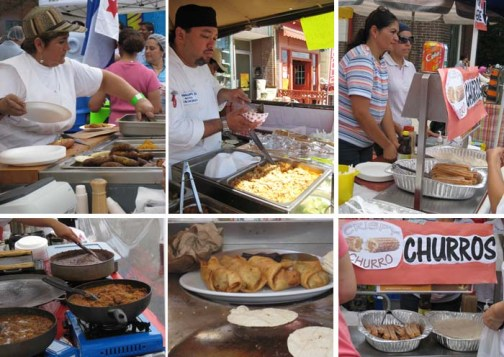 the cooks and their food at Salsa Street Festival (2008年拍的)