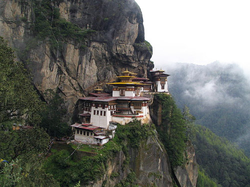 Taktshang Monastery , Bhutan (photo from : wikipedia)