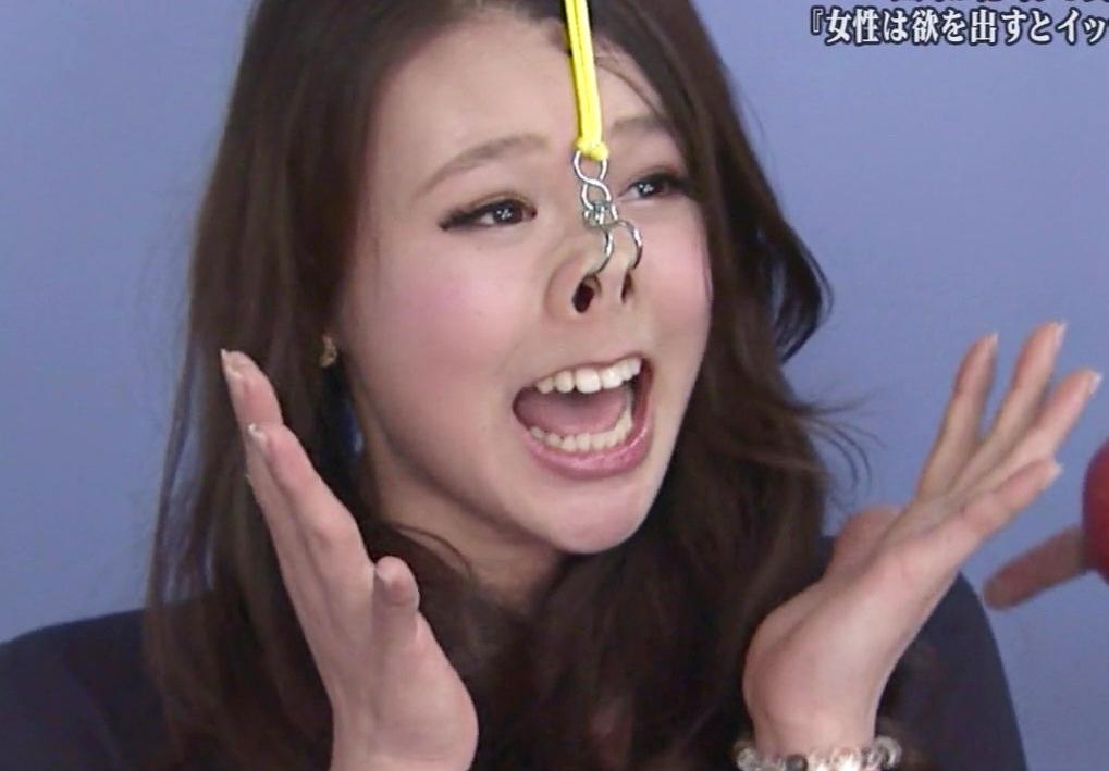 素人美女の鼻フック舌見せ (5)