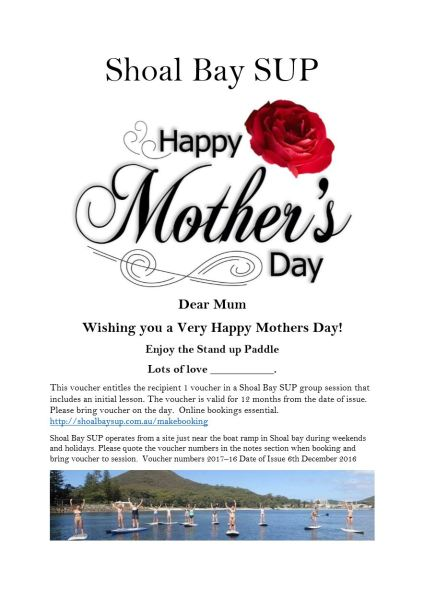 Mothers Day Voucher sample