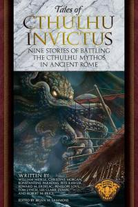 Images is a book cover showing Cthulhu rising out of the water attacking a ancient Roman Ship