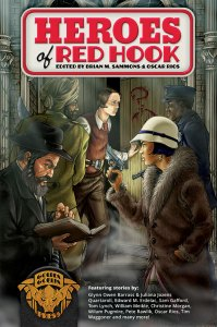 The cover for Golden Goblin Press's Heroes of Red Hook