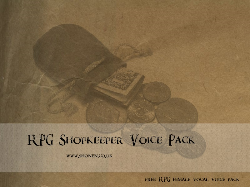 Download free RPG / mod/ animation voice pack