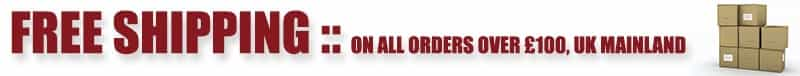Free Shipping on all orders over £100, Uk Mainland