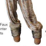 FAUX FUR HUNTER BOOTS front brown
