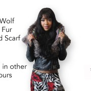HOODED FAUX FUR SCARF Front