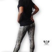 Snake Print PVC Leggings side