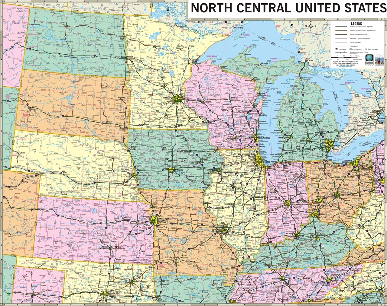 Map Of The Central United States Is Rain Water Clean Diagram - Us interstate wall map