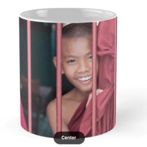 Tassa de ceràmica - 2 Young Monks in Myanmar