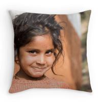 Funda per coixí - Nena al Nepal Far West