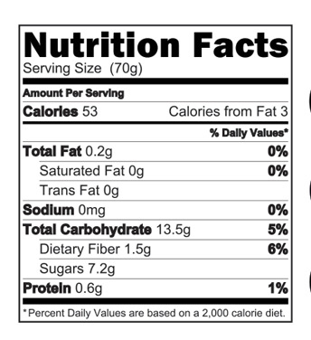香蕉中国体彩在线谷物nutrition Facts