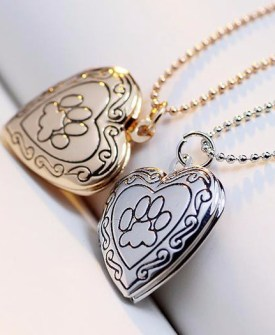 Valentine Lover Gift Animal Dog Paw Print Necklace