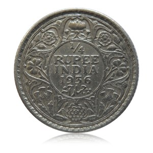 1936 1/4 Quarter Rupee George V King Emperor Calcutta Mint - Best  Buy