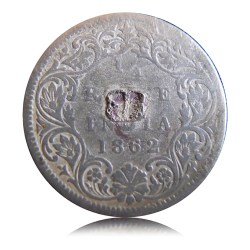 1862 Rupee Queen Victoria Silver Coin – Best Buy