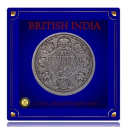 1926 1/2 Half Rupee Silver Coin King George V Calcutta Mint - Best Buy