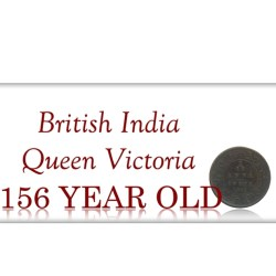 1862 British India   1/12 Twelve Anna Queen Victoria Bombay Mint - Rare Coin