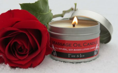 Massage Oil Candle, FIRE & ICE