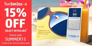 TwoSmiles 15% Off Gift Cards!