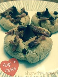 Hogs & Kisses Cookies: Peanut Butter, HERSHEY Kisses & Bacon!