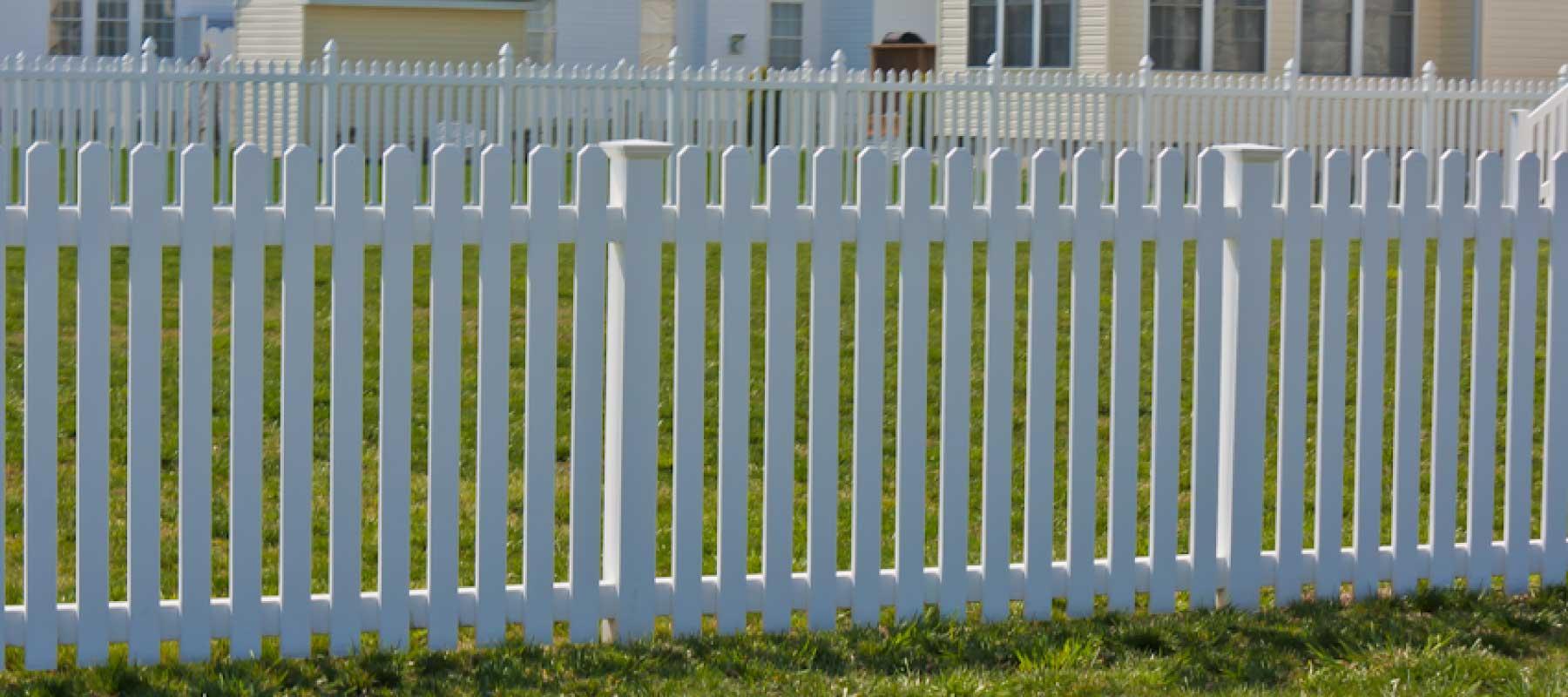 Claymont vinyl picket fence shoreline systems