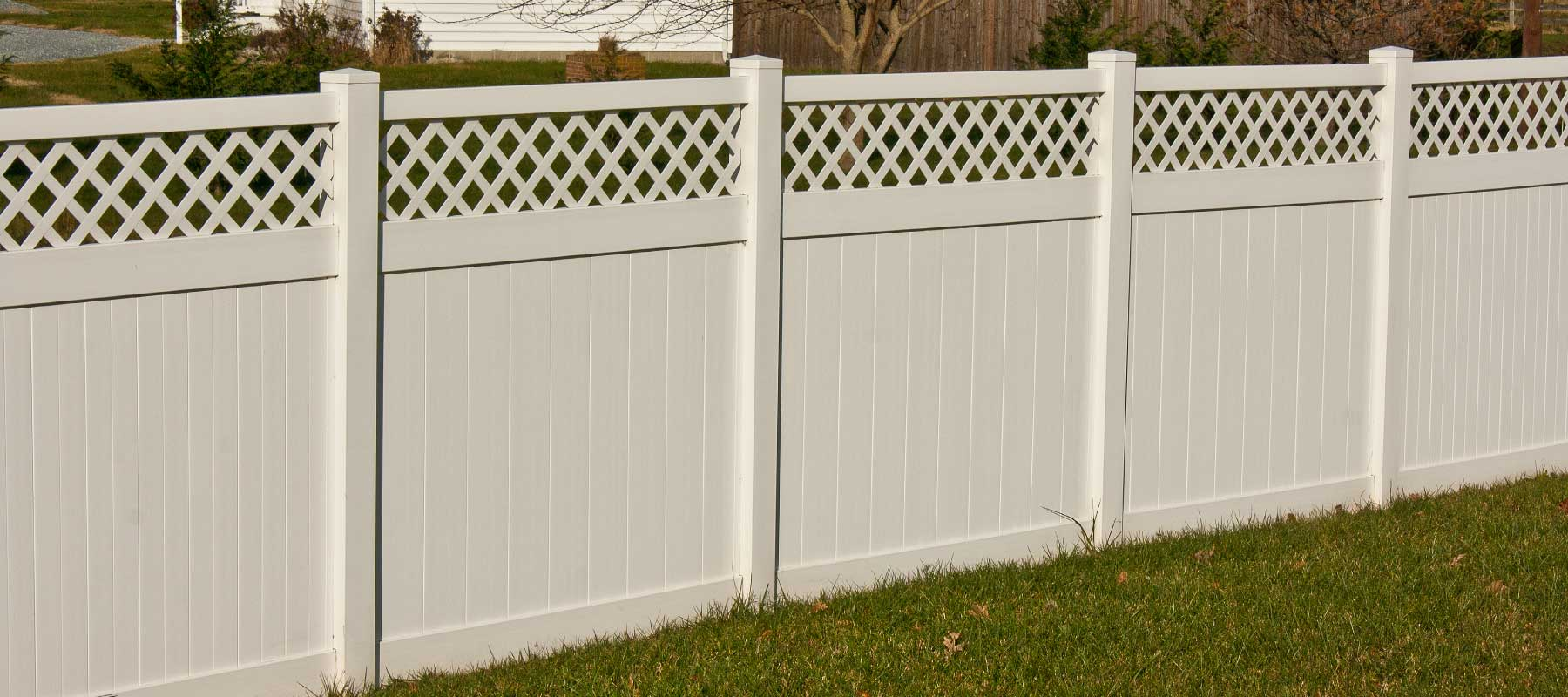 Wicomico vinyl privacy fence shoreline vinyl systems color options baanklon Images