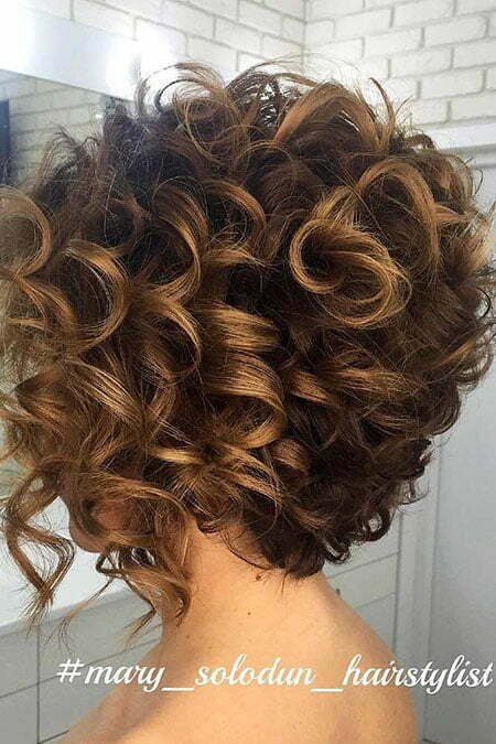 Curly Updo Short Work