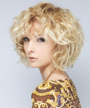 Cute Blonde Short Curly Haircuts 2013