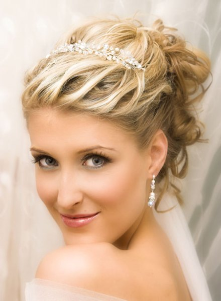 Short Wedding Hairstyles with Tiara | Short Hairstyles 2015