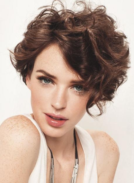 trendy short curly haircuts
