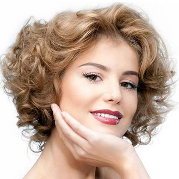 2014 Short Wavy Hairstyles For Round Faces